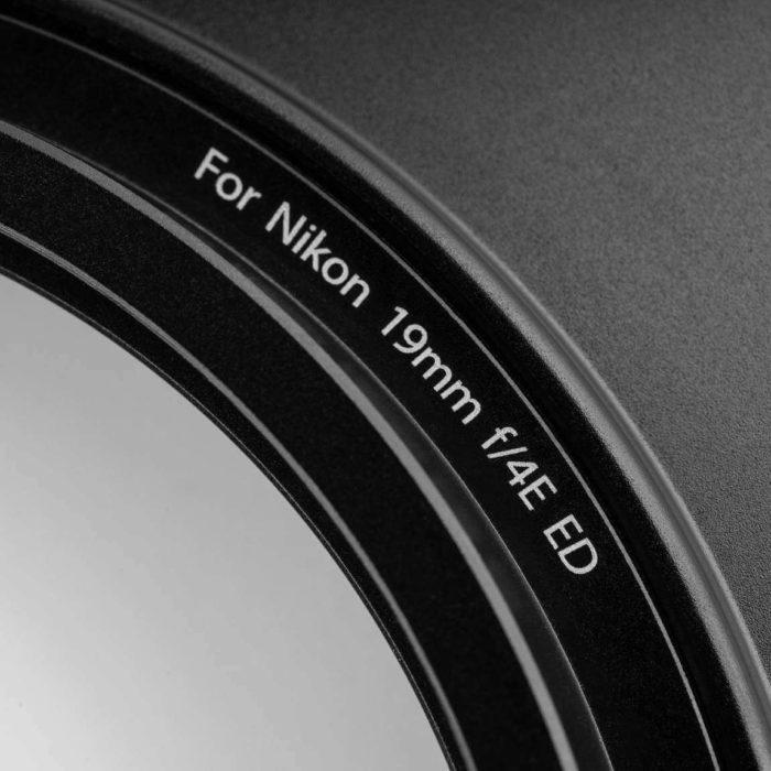 Nikon 19mm f4 porta filtri