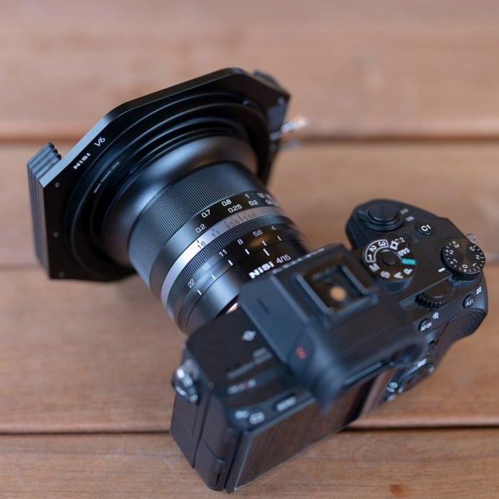 obiettivo ultra grandangolare NiSi-15mm-f4-ASPH filtri